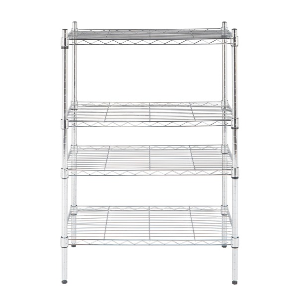 8-Tier Wire Shelving Unit Adjustable Steel Wire Rack Chrome