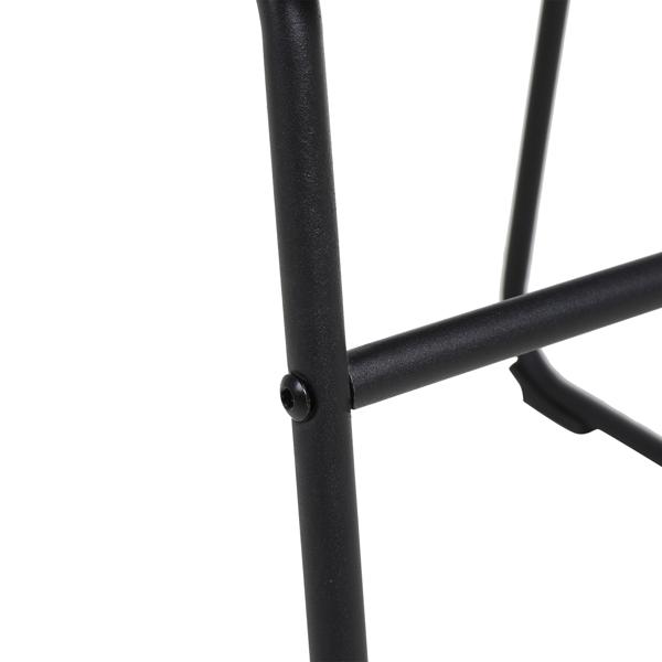 FCH 2pcs Iron Bar Stool Low Height 48*41*82cm Bronze N101