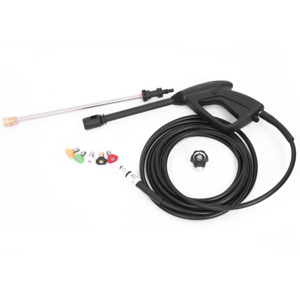 Elektrische Hochdruckreiniger 1800W, max 200bar, 380 l/h, mit Hochdruckpistole 5pcs Düse, Tragbare Reinigungsmaschine für Haushalt Auto Garten Pool