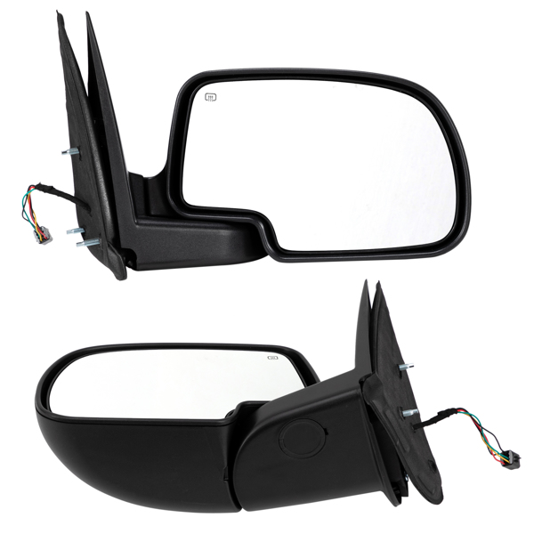 Mirror Set For 99-06 Chevrolet Silverado 1500 Power Primed Manual Folding Heated