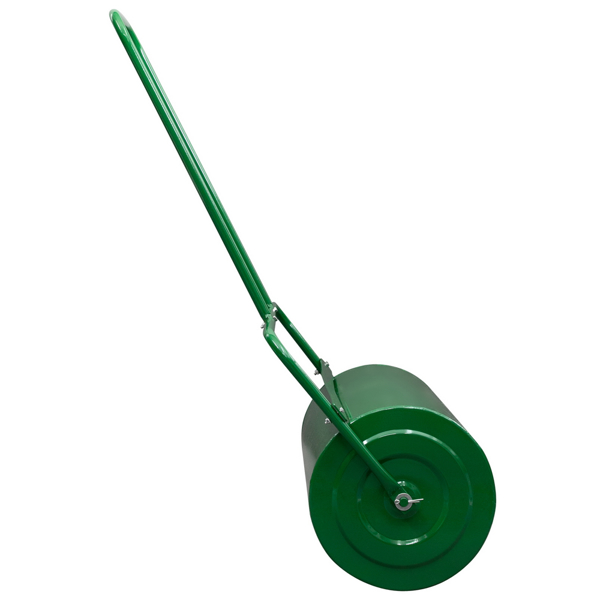Oshion 36in Lawn Roller Iron Cylindrical Garden North America Black
