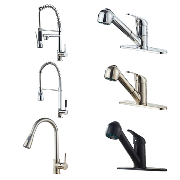 All Copper Kitchen Pull Black Faucet