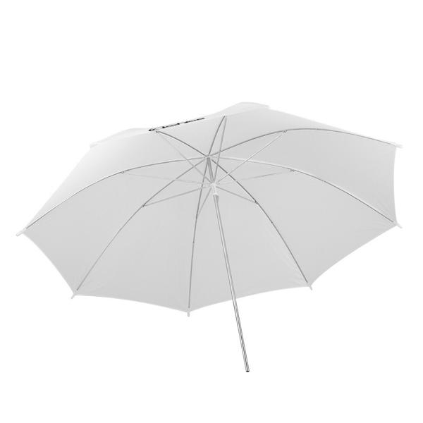 "Kshioe 45W Two Lights 33"" White Umbrellas 33"" Silver Black Umbrellas Holders Set EU plug White & Black"