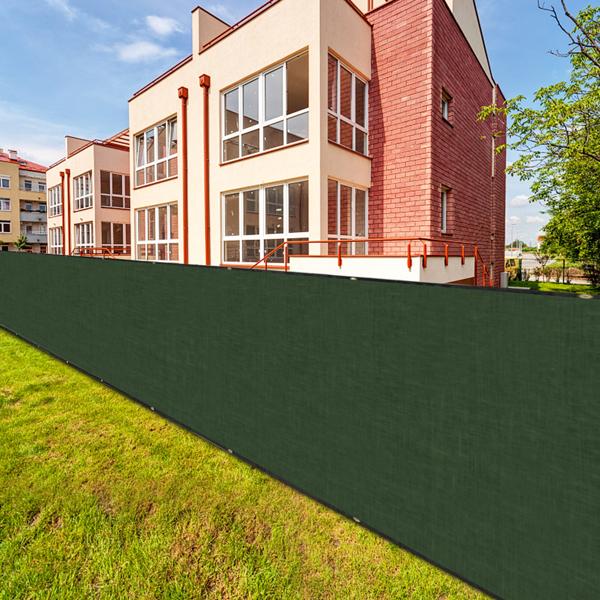 15x1.2m Rectangular PVC Privacy Screen Fence Dark Green