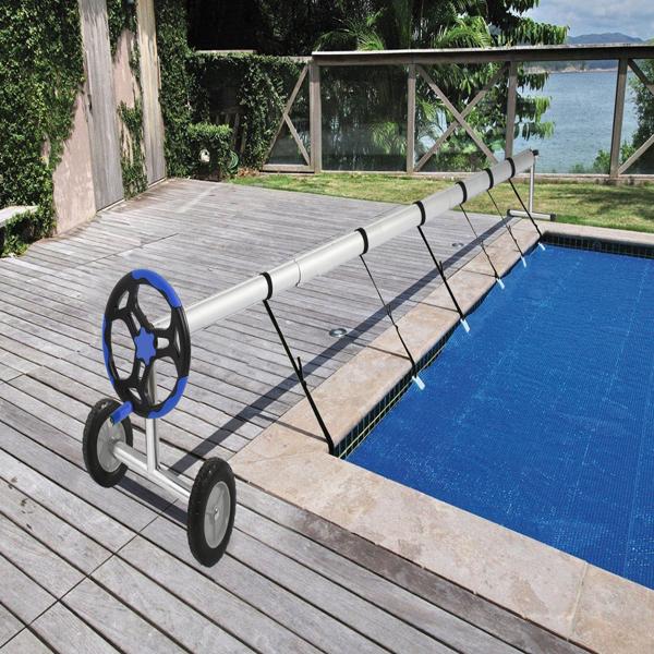 Pool Aufroller fahrbar Aufrollvorrichtung für Solarfolie Poolabdeckung, Länge 5,5 m