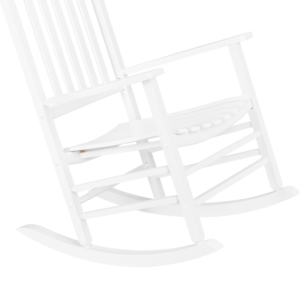 68.5*86*115CM Square Wooden Rocking Chair Wavy Backboard White