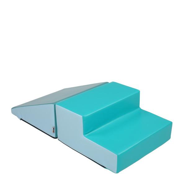 Children's Sensory Integration (Two-Step Ladder/Triangular Slope) Light Blue Light Green