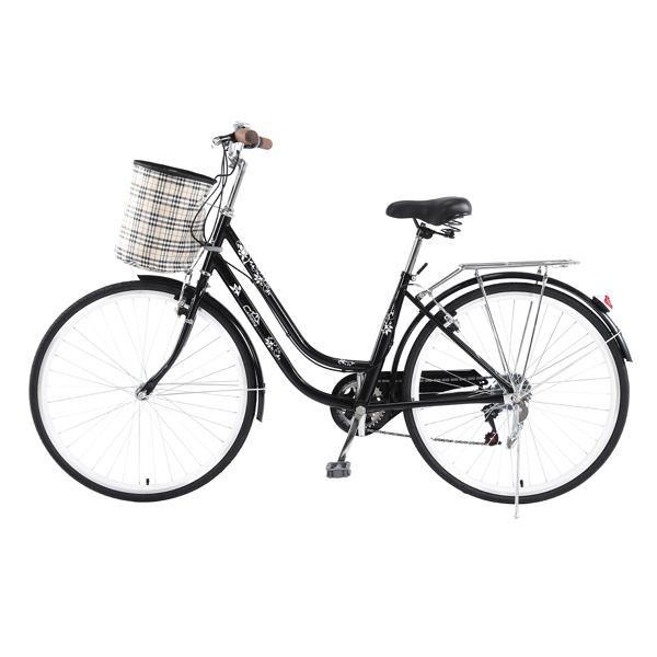 26Inch Iron Frame Bearing 100kg 7-Speed Commuter Bike Black(Do not sell on Amazon)