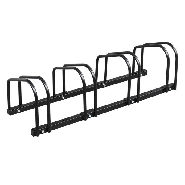 95*33*29cm Ground Parking 4 Frame Bicycle Parking Rack Black