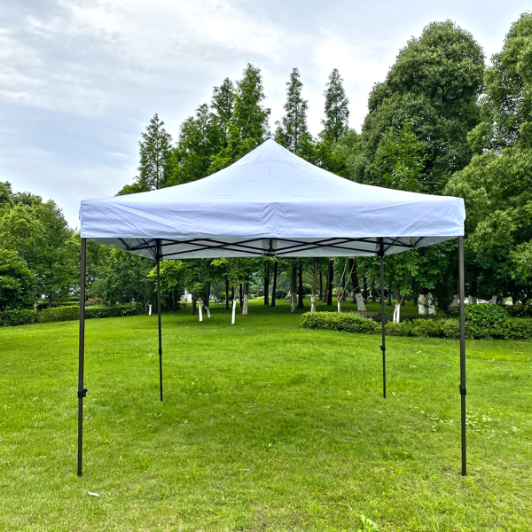 10x10 Ft Outdoor Easy Pop up Canopy Tent, Folding Portable Tent,White