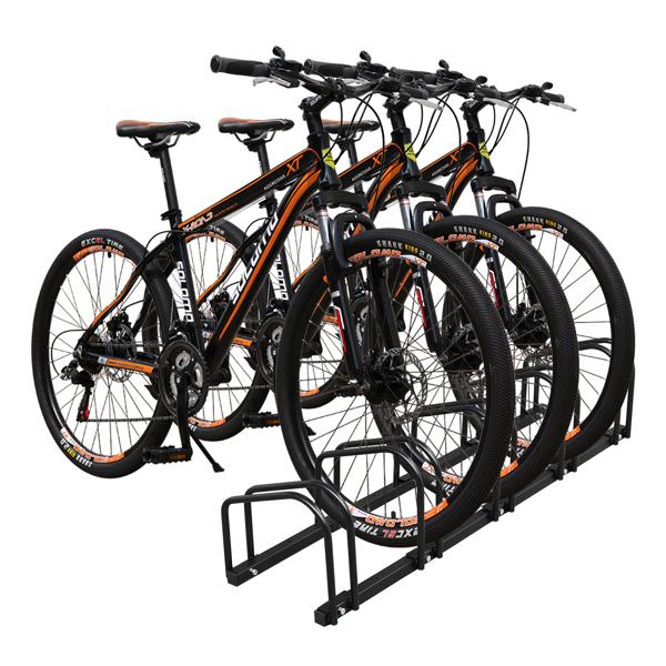130*33*29cm Ground Parking 5 Frame  Bicycle Parking Rack Black