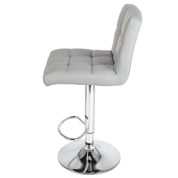 2pcs 60-80cm 6 Checks Round Cushion No Armrest Bar Stool Gray
