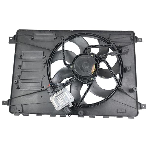 Cooling Fan Assembly w/Cooling Fan Module Control LR006992 LR026078 For Land Rover LR2 HSE Lux Sport Utility 4-Door Base Sport Utility 4-Door