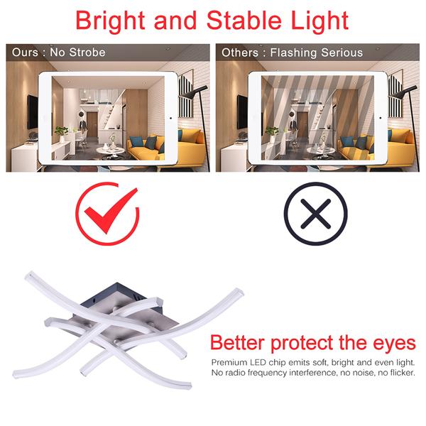 Modern Led Ceiling Light Quad Forks Ceiling lamp Waved Pendant Lamps For Bedroom Living Room Kitchen
