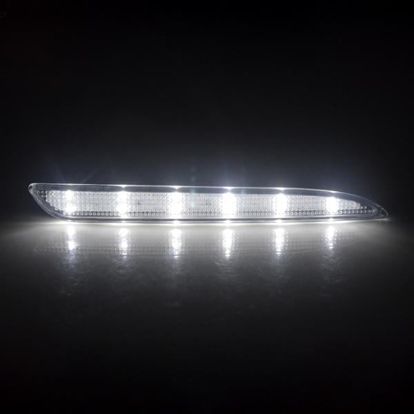 2x LED Rear Bumper Reflector Turn Signal Brake Stop Light For Mazda 3 2010-2013 (Red Lens)