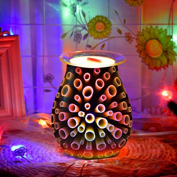 Aroma Electric Wax Melt Burner 3D Lamp Night Light Wax Warmer
