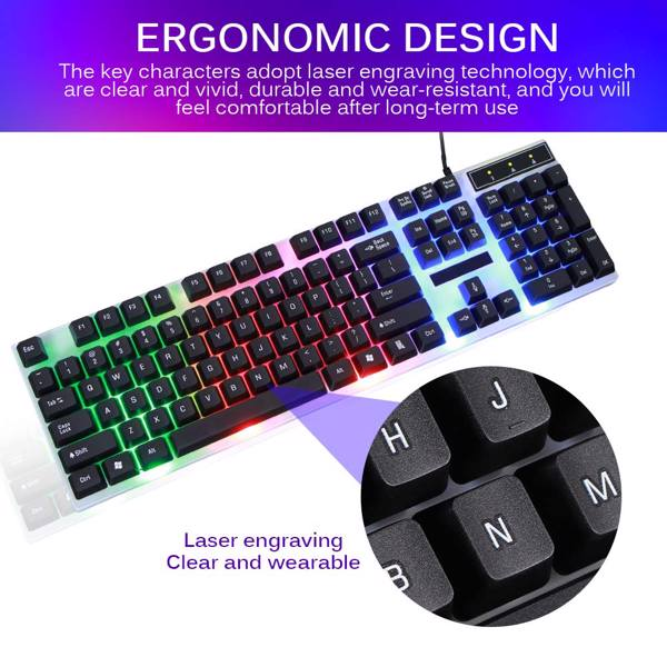 Wired Keyboard Mouse Set