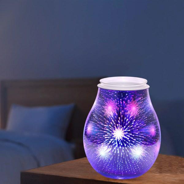 Firework Pattern Electric Plug-In Powerful LED Aroma Lamp Wax Melt Oil Burner Warmer