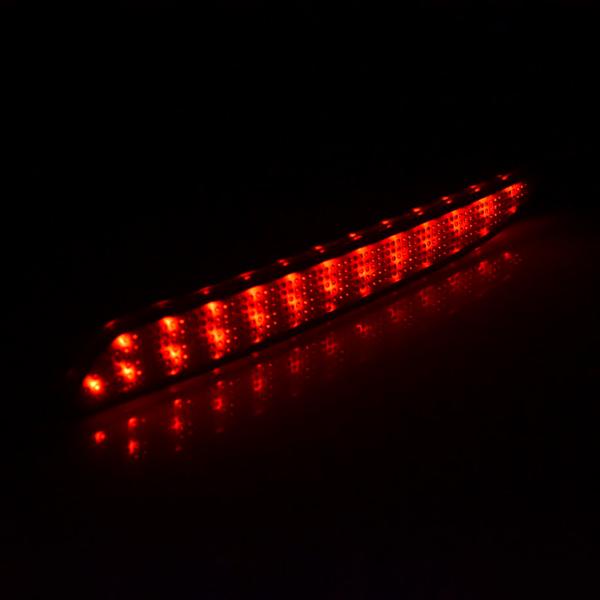 For 2010-2013 Mazda 3 Black Smoked Lens LED Bumper Reflector Tail Brake Light (Smoked Lens)