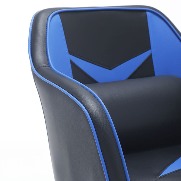 Gaming Computer Chair Mid-Back Adjustable Swivel with Massage Lumbar Pillow, Blue&Black