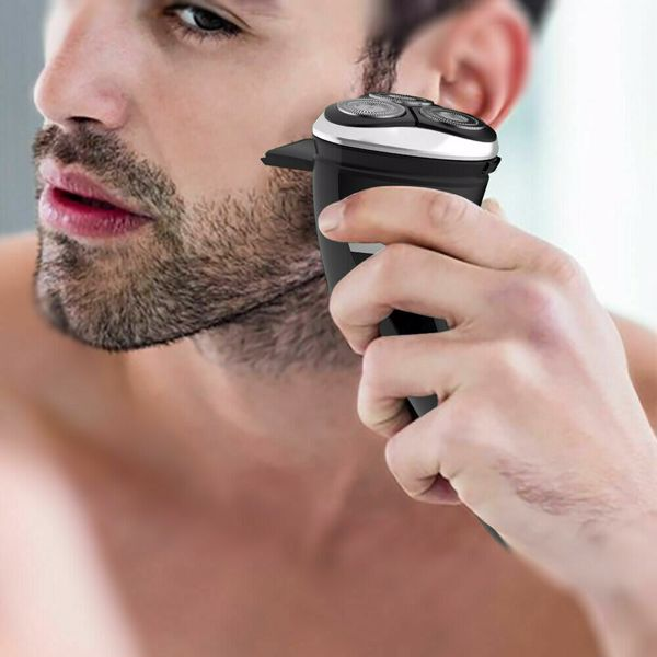 ROAMAN Electric Razor for Men,Rechargeable 3D Rotary Mens Electric Shaver Wet Dry IPX7 Waterproof with Pop-up Beard Trimmer,Corded Cordless Play,Wall Adapter 100-240v (Cannot be sold on Amazon)