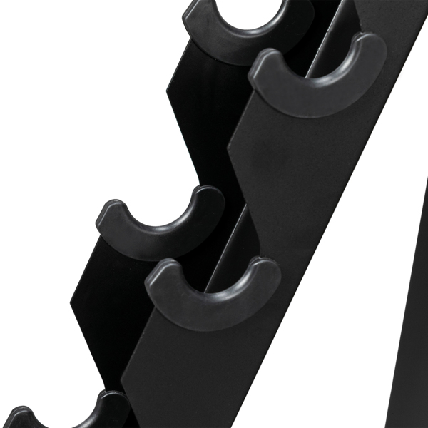 Iron Dumbbell Frame Storage Black