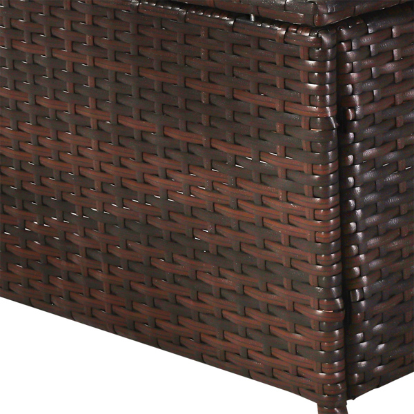Oshion Three-piece Conjoined Sofa Pedal Coffee Table Brown (Combination of 2 Boxes)