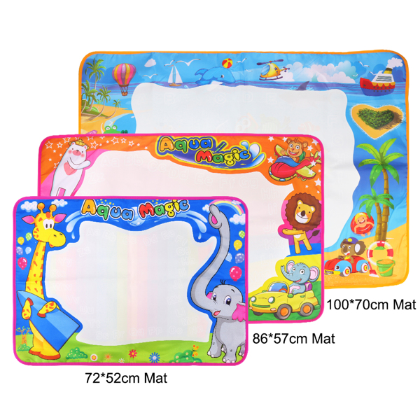 Watercolor Magic Doodle Painting Mat Large Educational Water Drawing Mat Kids Toy Toddler Painting Board Drawing Accessories Boys Girls