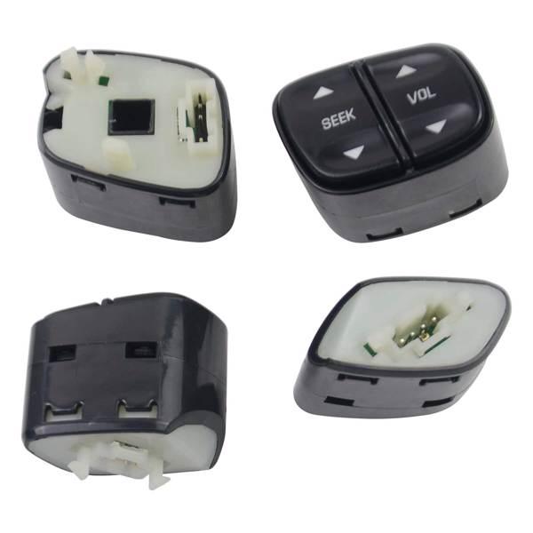 Steering Wheel Radio Volume Control Switch Set 21997738 901-121 for Buick Rainier Cadillac Escalade Chevy Tahoe GMC Sierra 2003-2007