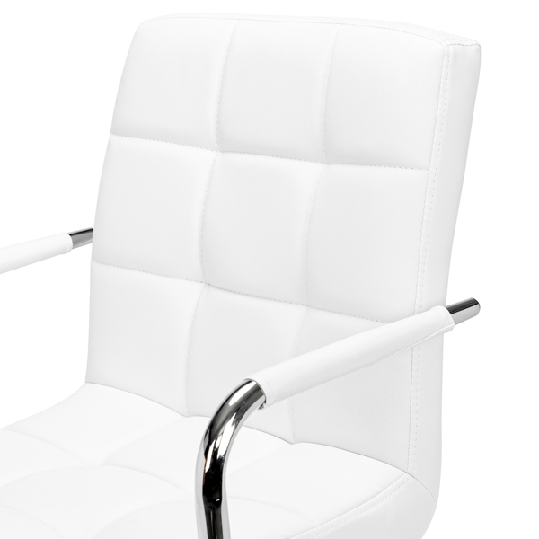 FCH 9 Grid Bar Chair Office Chair with Armrest White