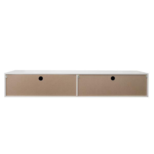 """180 Wall Mounted Floating 80"""" TV Stand with 20 Color LEDs  White Black"""