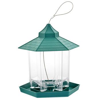 Bird Feeder Green Flag Plastic Hanging Bird Food Container Bird Feeder Waterproof Outdoor Pet Supplies Garden Decoration