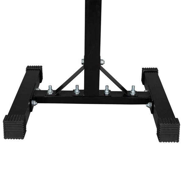 Verstellbar Hantelständer, Squat-Rack mit 2 Einzelnen Ständern, Professionelle Fitnessgeräte für Zuhause