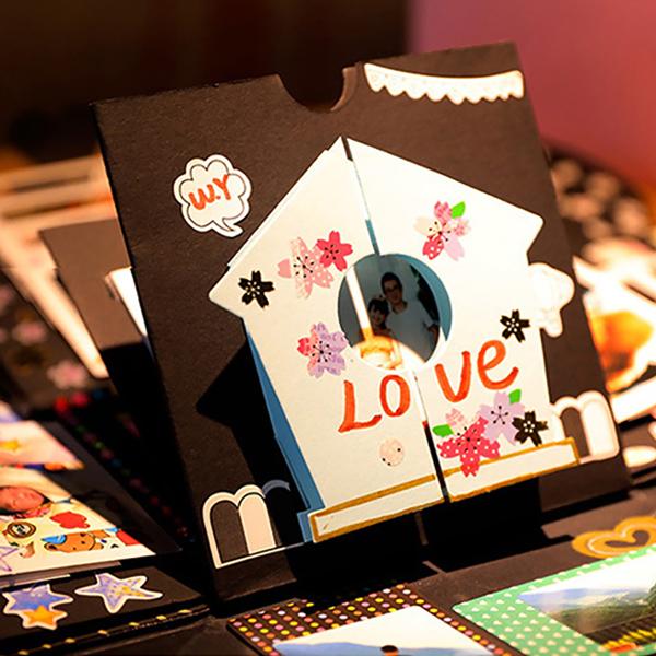 DIY Surprise Love Explosion Box Gift Explosion for Anniversary Scrapbook DIY Photo Album Birthday Gift
