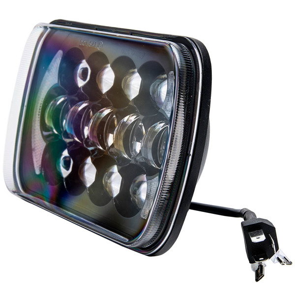 105W 5x7'' 7x6'' LED Headlight Hi-Lo Beam DRL For Jeep Cherokee XJ YJ
