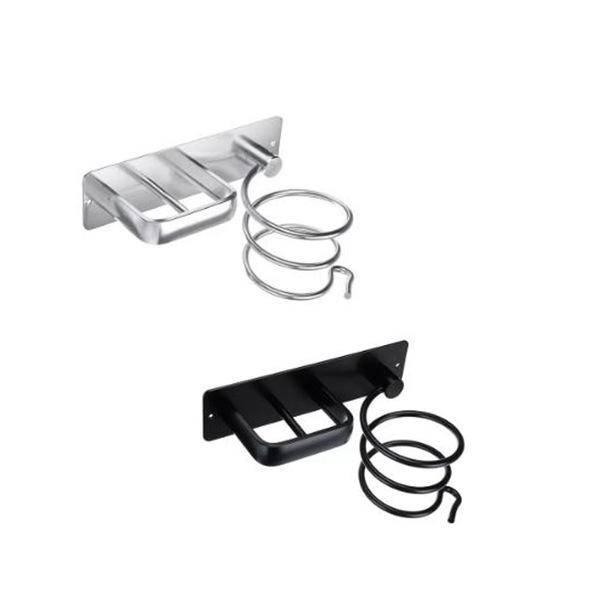 Space Aluminum Punch-Free Hair Dryer Storage Rack Hair Dryer Holder Storage Shelf