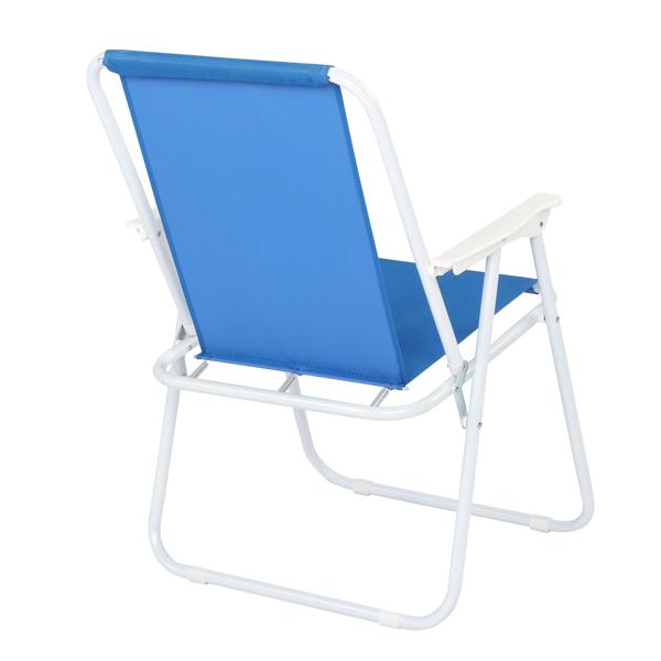 Oxford Cloth Iron Outdoor Beach Chair Blue
