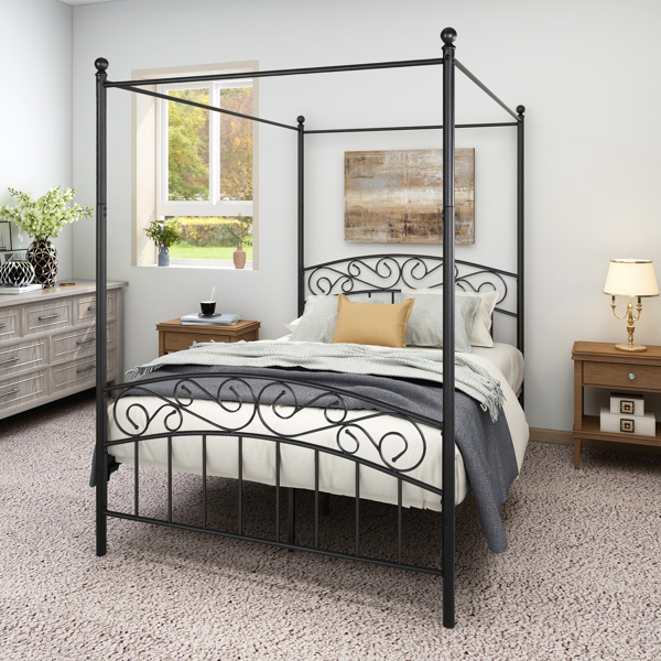 Canopy Bed Frame Full Size Vintage style