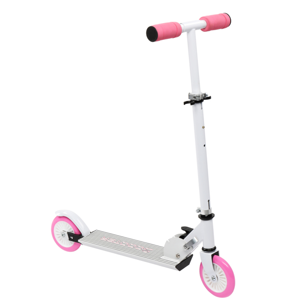 Scooter for Teens,3 Height Adjustable Easy Folding Pink
