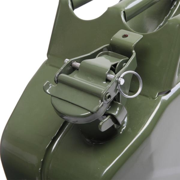 20L Stahlblech Kraftstoff Kanister, Metall Benzinkanister Reservekanister mit Ausgießer flexibel, Grün