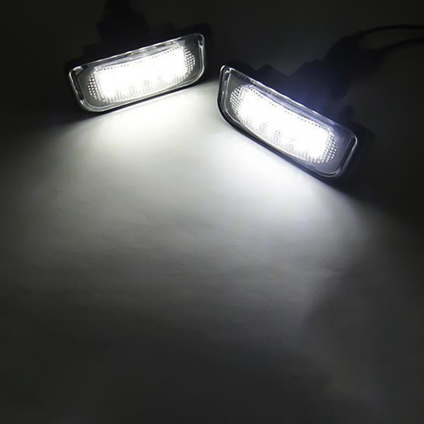 2Pcs LED License Plate Light Lamp For Mercedes-Benz W203 2001-2007