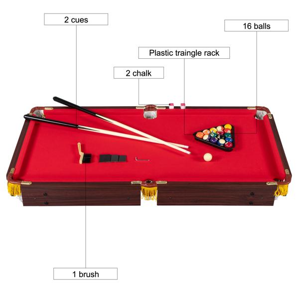 122*66*76cm Billiard Table Red