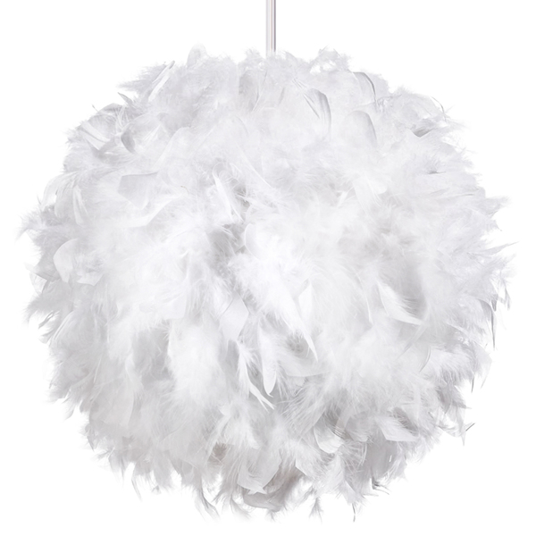 Pendant Feather Lamp Romantic Dreamlike Feather Droplight Bedroom Living Room Parlor Hanging Lamp