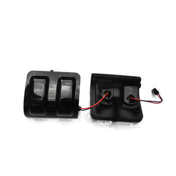 LED Side Mirror Lights Smoked Lens For 2008-2016 Ford F250 F350 F450 F550 (Smoke Lens)