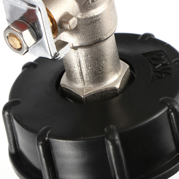 """Ball Drain Tap 1/2 """"adapter tank rainwater container Urea drum valve joint for IBC ton drum"""