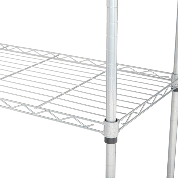 4-Tier Bakers Rack with Kitchen Storage Chrome