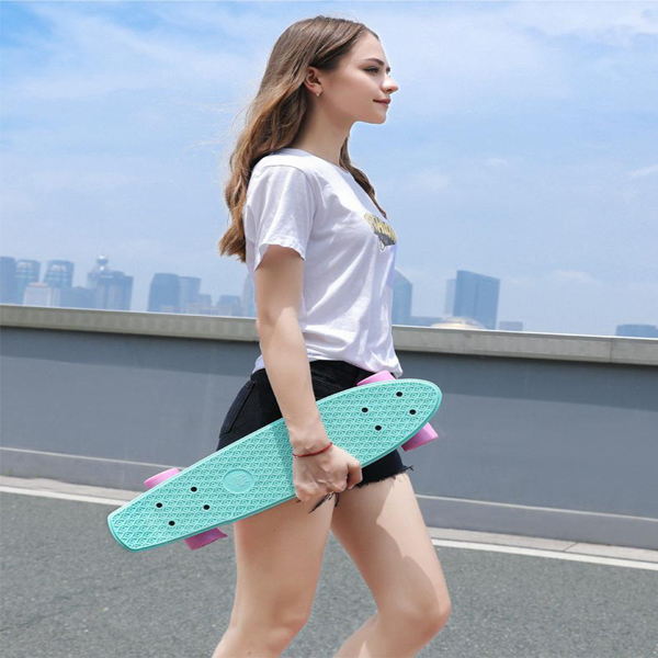 """Skateboards 22"""" x 6"""" Complete Skateboards for Kids/ Youths/ Teens/ Beginners Green"""
