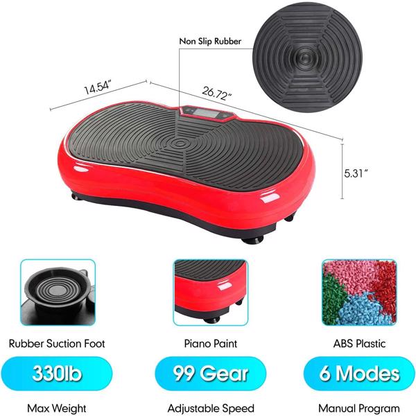 JF-CFM15 Home Slimming Machine LCD Screen with Bluetooth Red