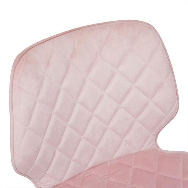 Office Chair Mid Back Modern Swivel Velvet Computer Desk Chair, Pink