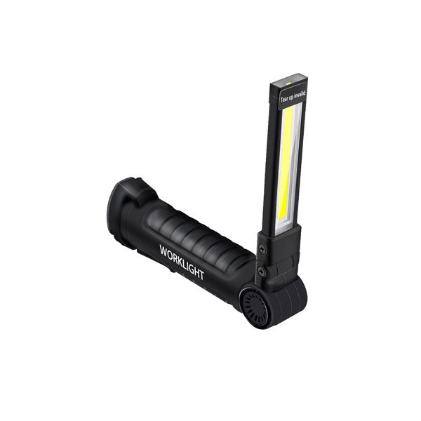 Handheld LED Work Light Bright COB Inspection Lamp 360 Degrees Rotary Magnetic Flashlight 5 Modes LED Torch Light for Outdoor Emergency Situation  20*4*2.5cm